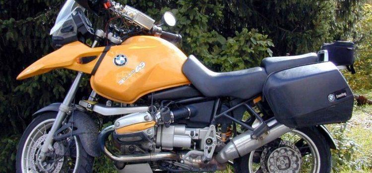 BMW R1150GS, Totalschaden nach Unfall